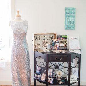 Gorgeous wedding dress on display at Blush Bridal in Lancaster, PA