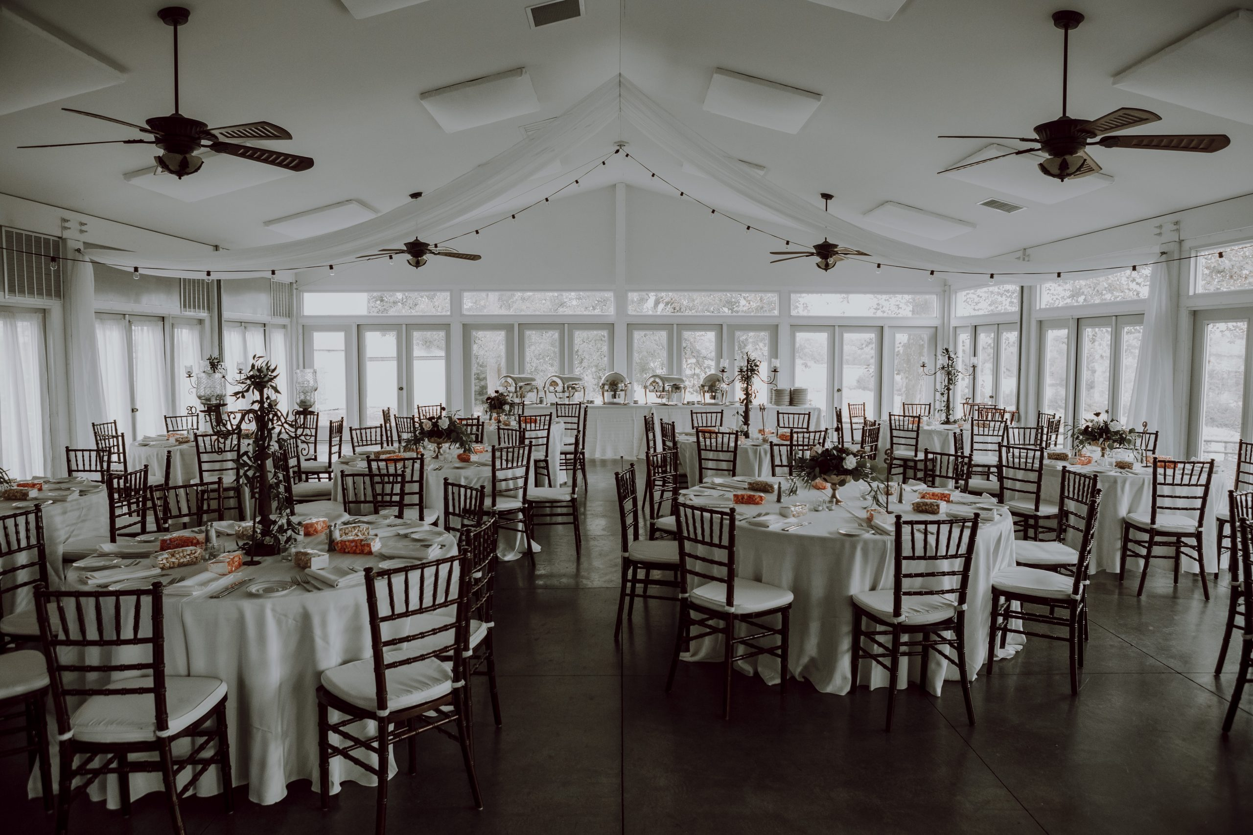 Space is key when renting a reception hall. Captured by Lovefusion Photography at Stock's Manor in Mechanicsburg, PA. Featured on Dream Weddings.