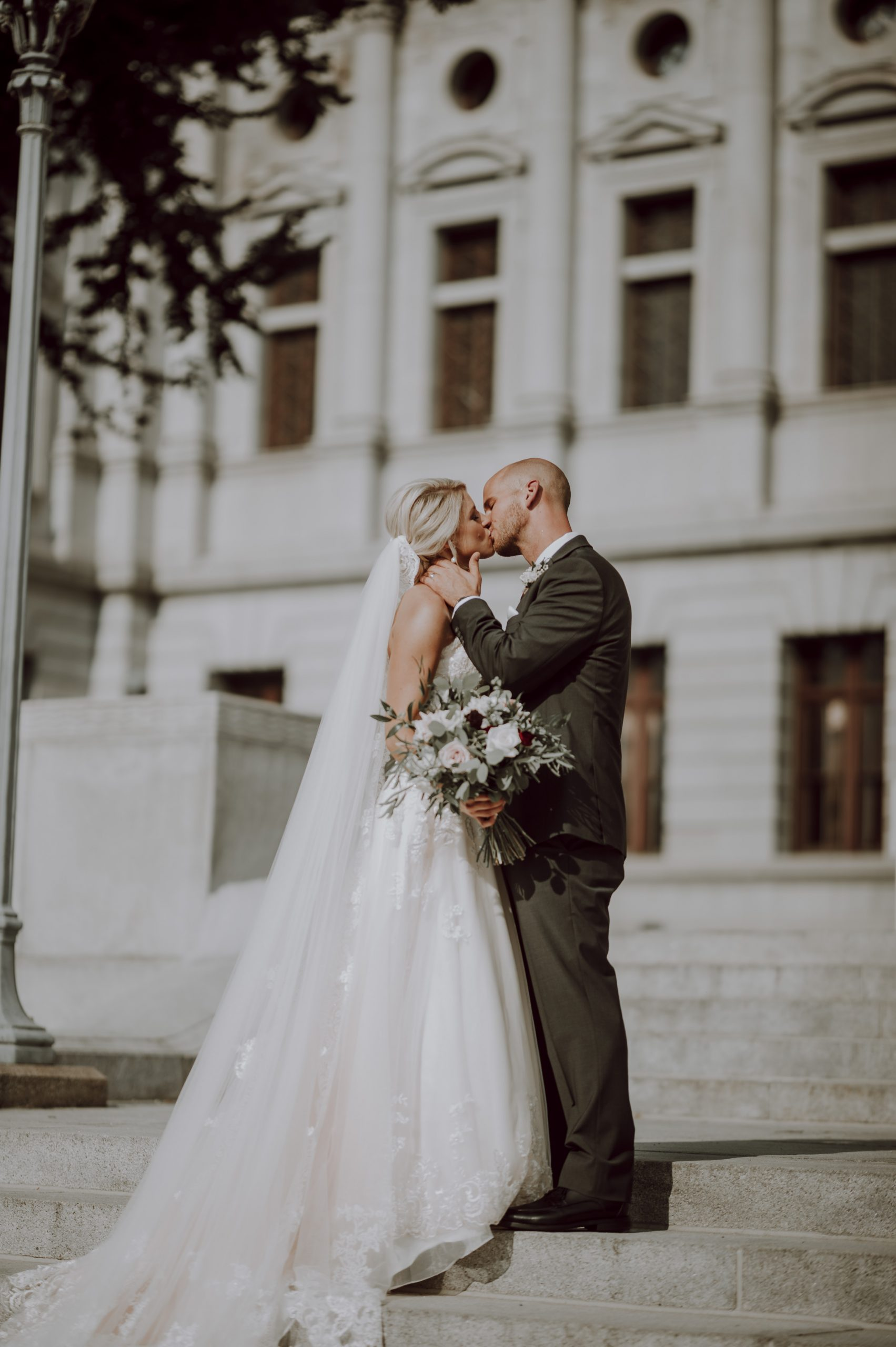 Just married and just infatuated with each other. Captured by Lovefusion Photography at Stock's Manor in Mechanicsburg, PA. Featured on Dream Weddings.