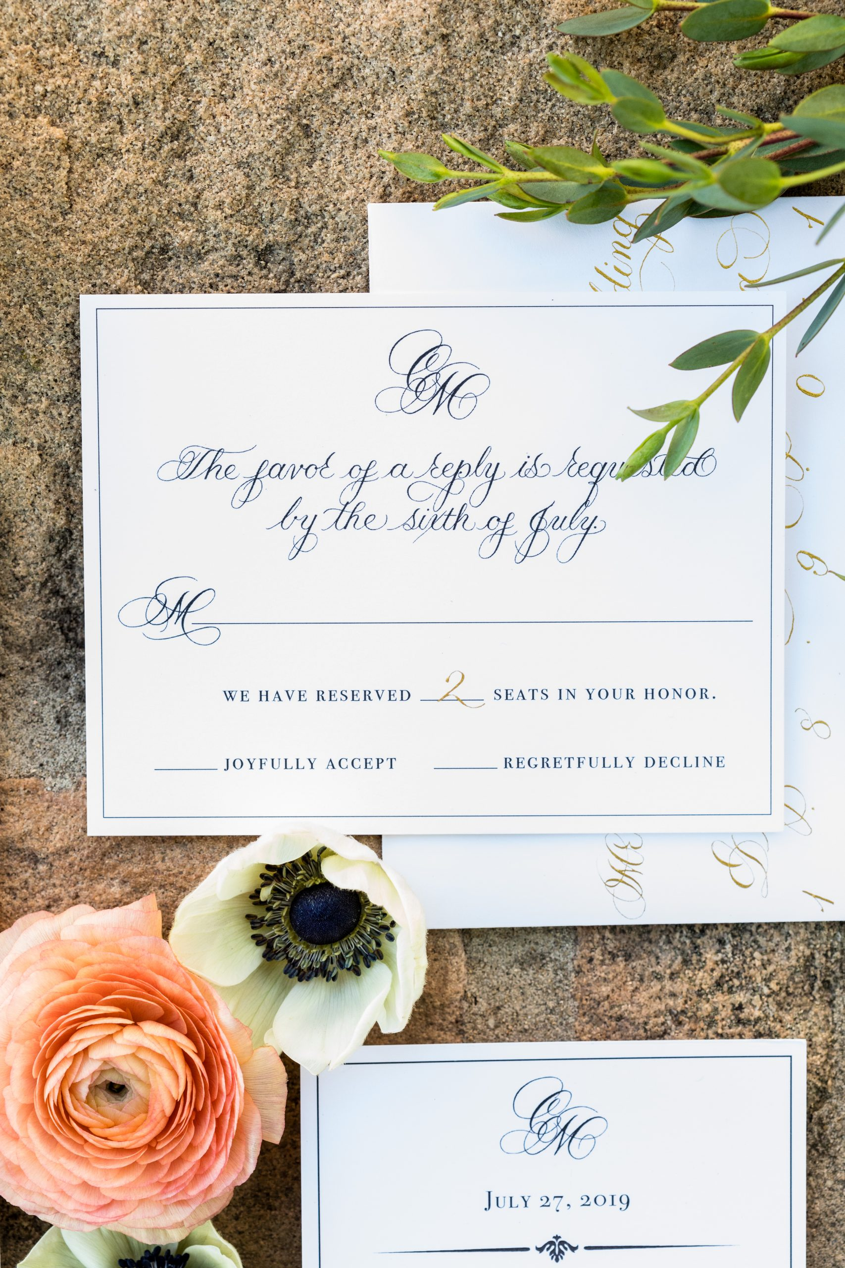 Invitations done classic, but simply at the Michener Museum styled urban contemporary shoot for Ashley Gerrity Photography this past Summer. Featured on Dream Weddings.