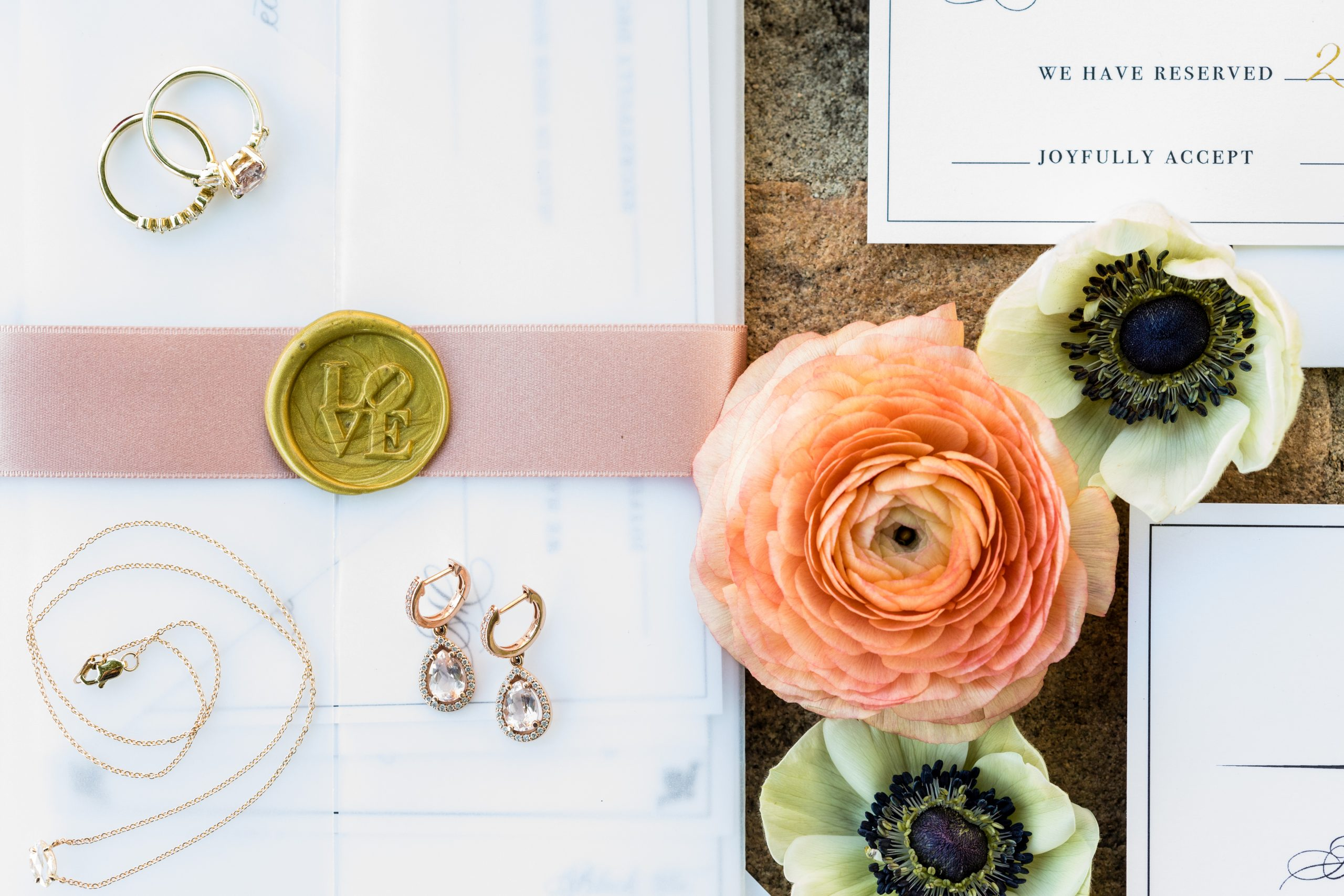 A pairing of color and signage are perfect in blush pink and rose gold at the Michener Museum styled urban contemporary shoot for Ashley Gerrity Photography this past Summer. Featured on Dream Weddings.