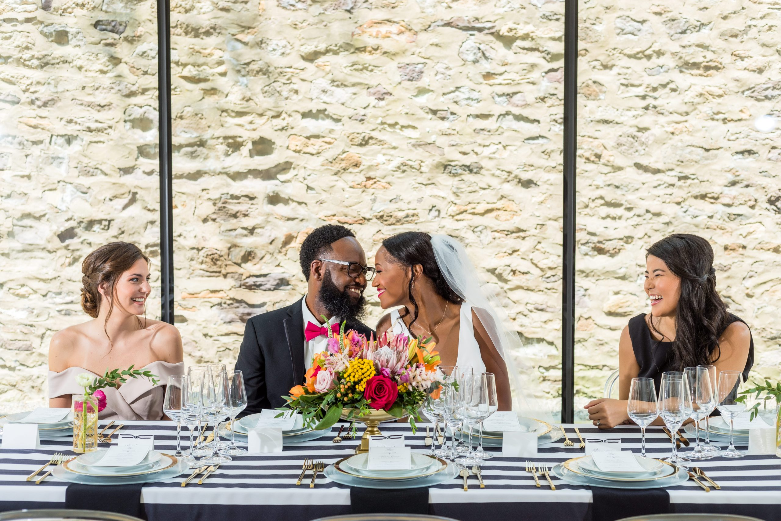 A playful reception shot with full natural light at the Michener Museum styled urban contemporary shoot for Ashley Gerrity Photography this past Summer. Featured on Dream Weddings.