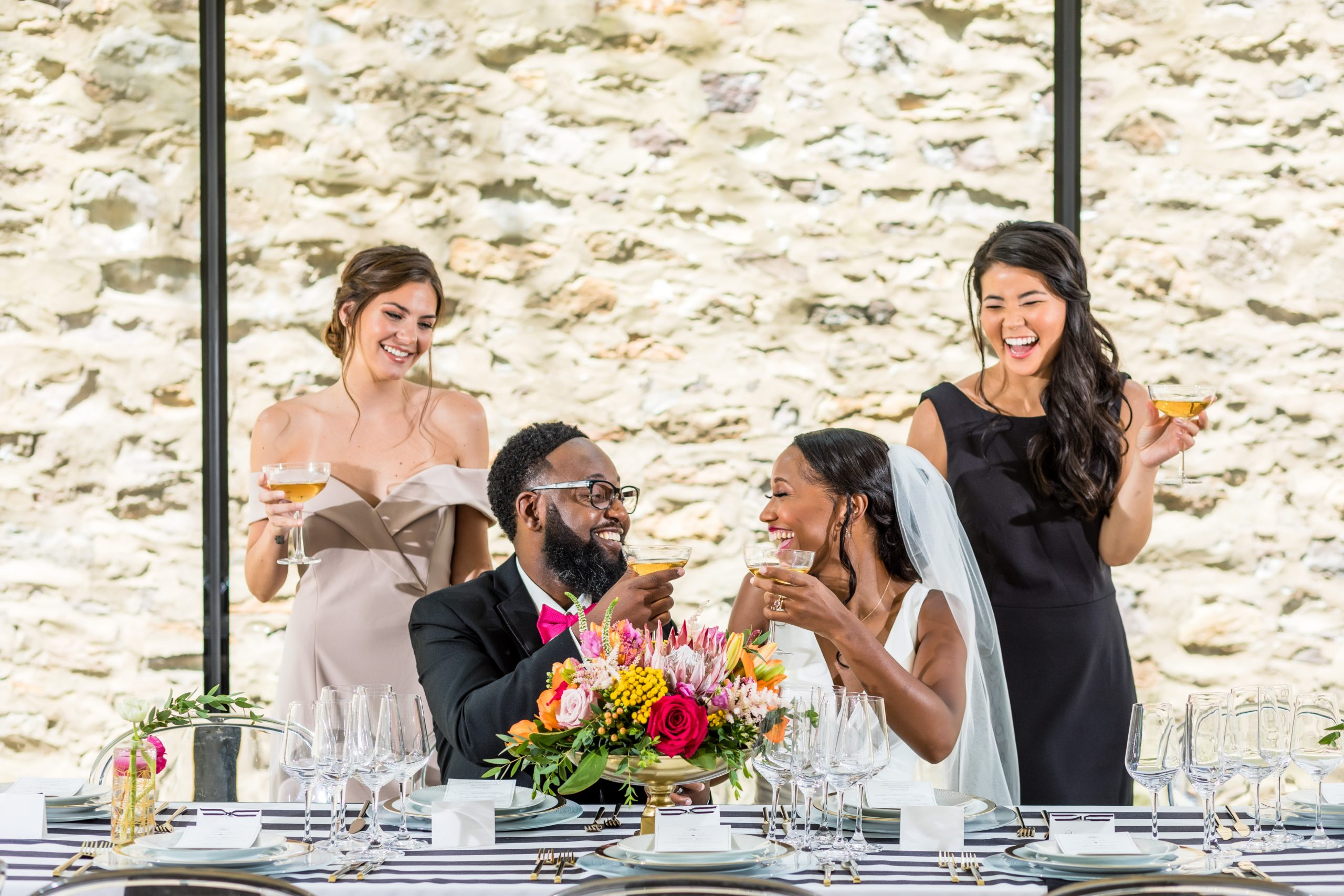 the reception at the Michener Museum styled urban contemporary shoot for Ashley Gerrity Photography this past Summer. Featured on Dream Weddings.