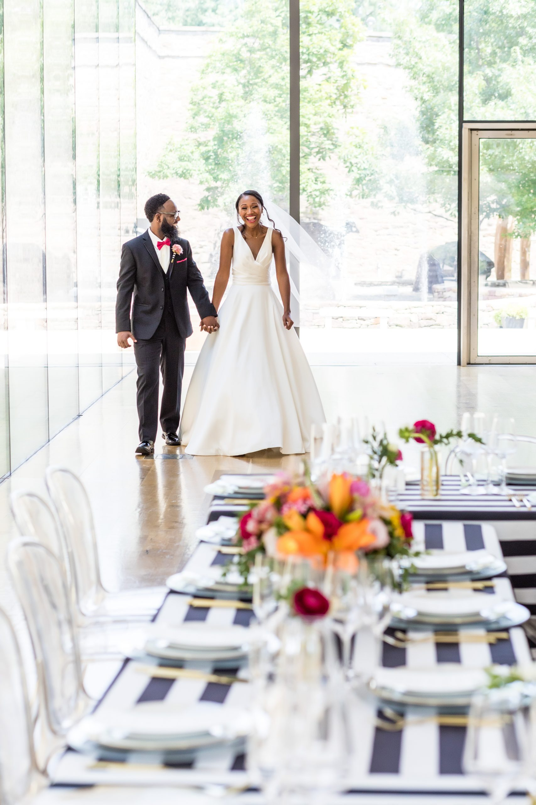 the excitement on the brides face says it all at the Michener Museum styled urban contemporary shoot for Ashley Gerrity Photography this past Summer. Featured on Dream Weddings.