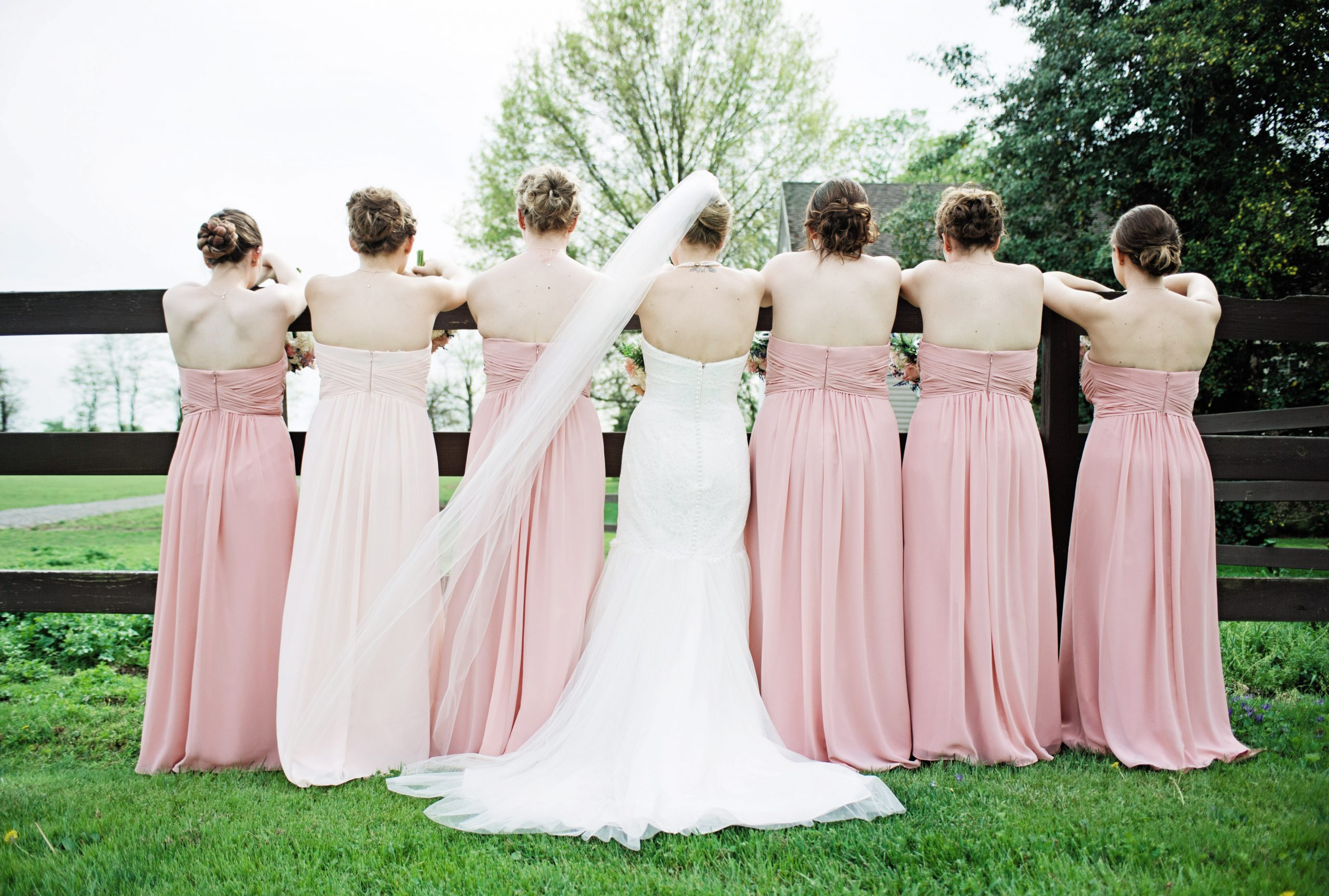 Lakeview Farms of York, PA offers the farm atmosphere for shots like this taken by Lovefusion Photography. Featured in Dream Weddings.