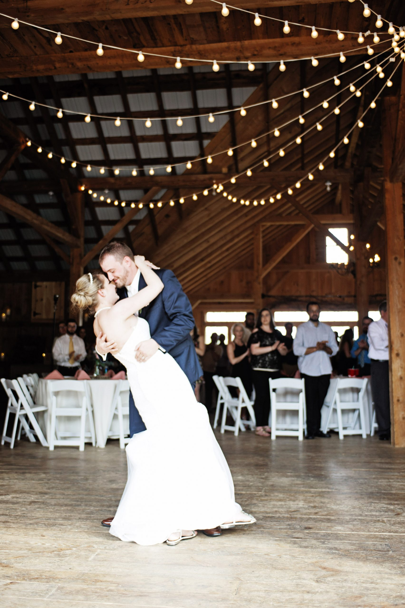 the first dance setting the tone at Lakeview Farms of York, PA. Lovefusion Photography effortlessly snapshotting this moment. Featured on Dream Weddings.