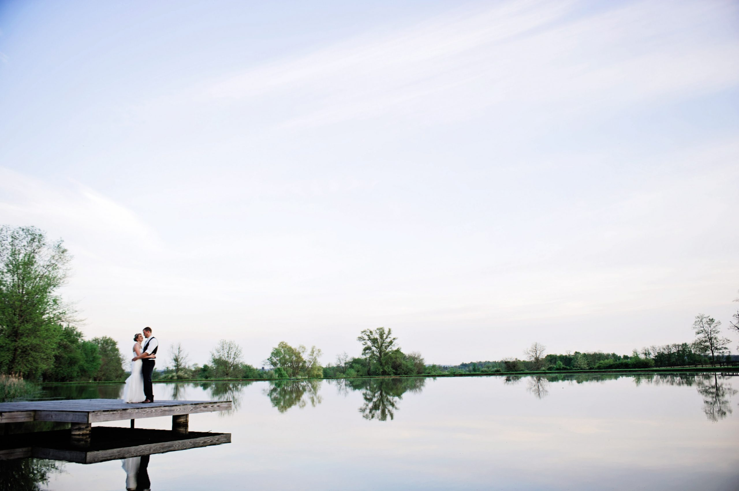 Happy newlyweds photographed by Lovefusion Photography at Lakeview Farms in York, PA. Featured on Dream Weddings. Featured on Dream Weddings.
