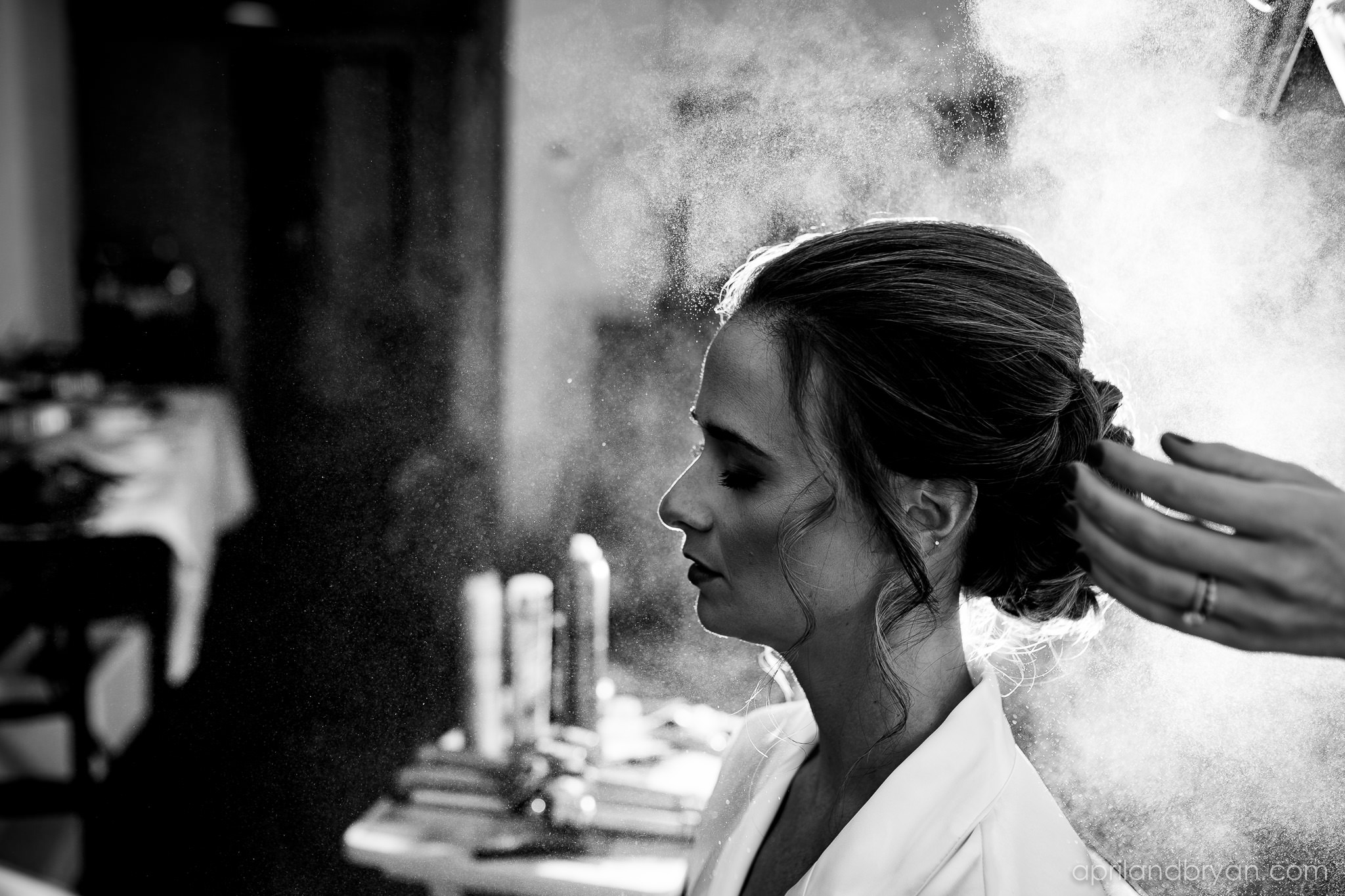 A perfect hairstyle for a perfect bride. Shot by April & Bryan Photography at the Franklin Institute in Philadelphia, PA. Featured on Dream Weddings.