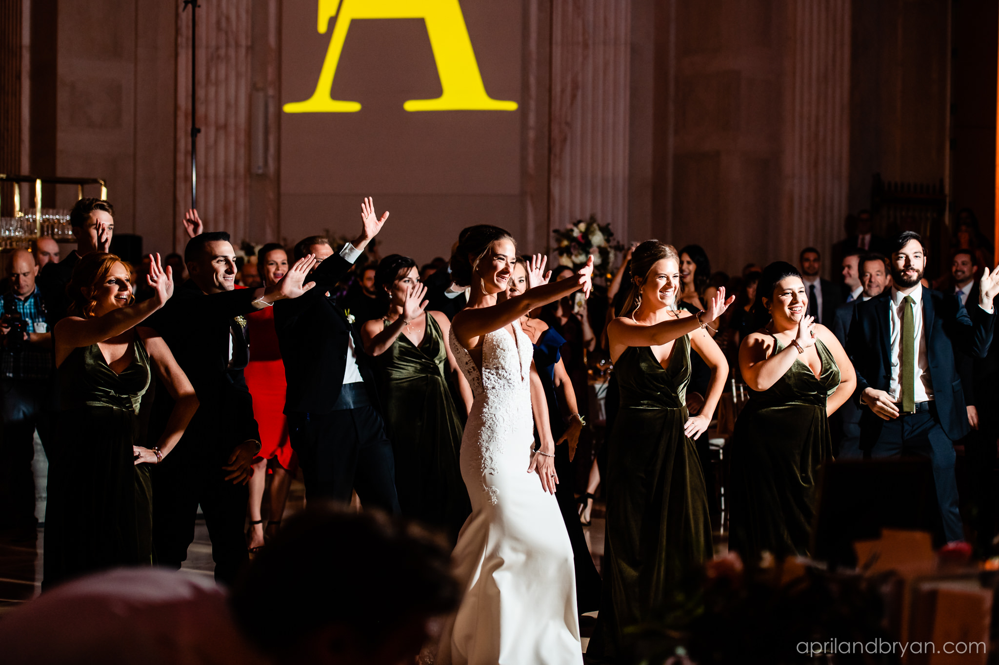 Moves on the dance floor at the Franklin Institute in Philadelphia captured by none other than April & Bryan Photography. Featured on Dream Weddings.