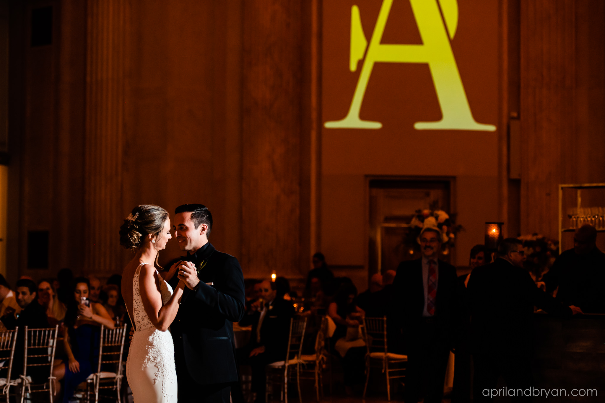 The first dance of bride and groom symbolizes the first thing they do together after nuptials. The Franklin Institute held their celebration, while April & Bryan Photography captured it beautifully. Featured on Dream Weddings.