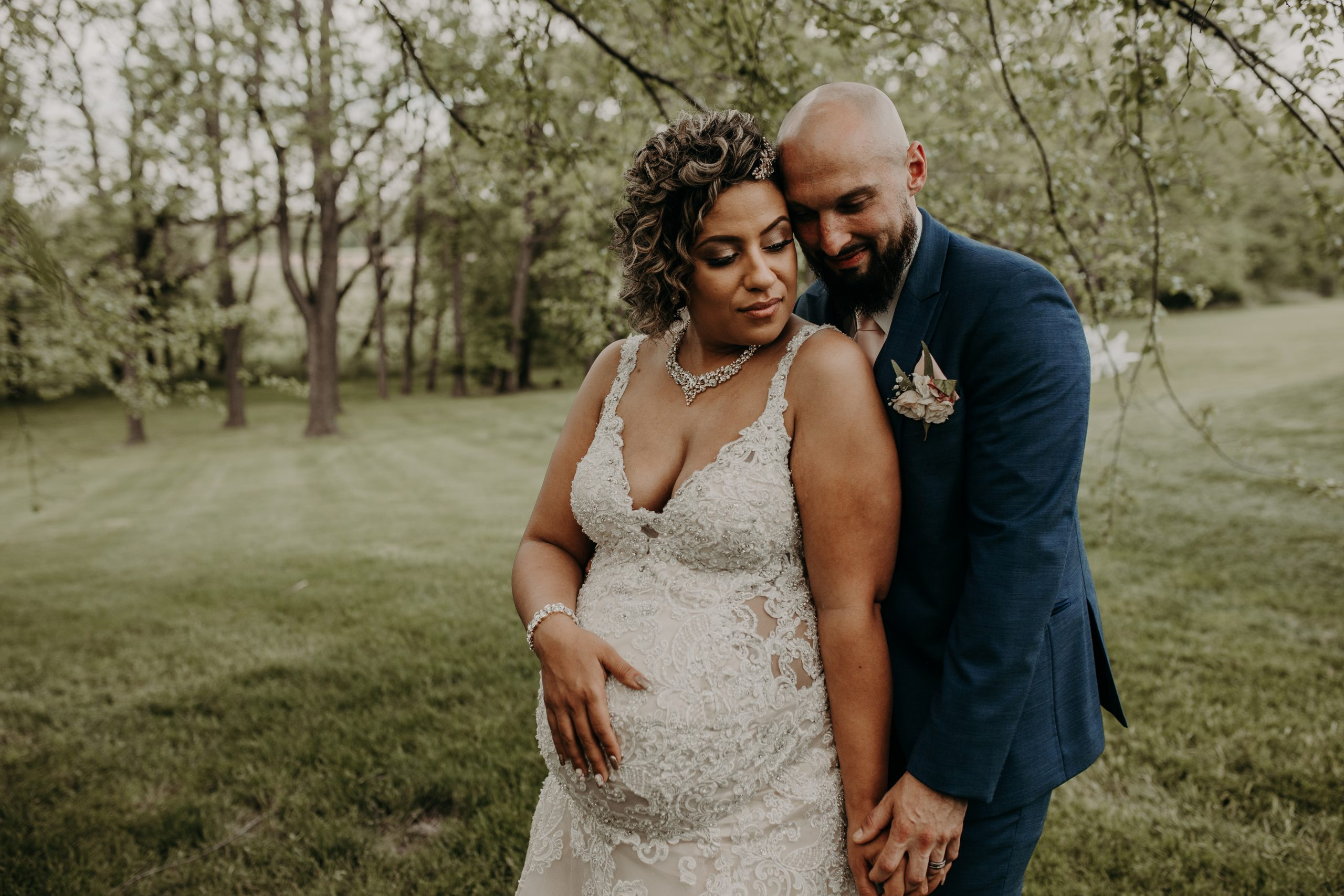 married and expecting! Christine and Richard wed on the Chestnut Hill Villa grounds on May of 2019. This organic ethereal styled wedding was captured by Garnet Dahlia Photography and featured on Dream Weddings.