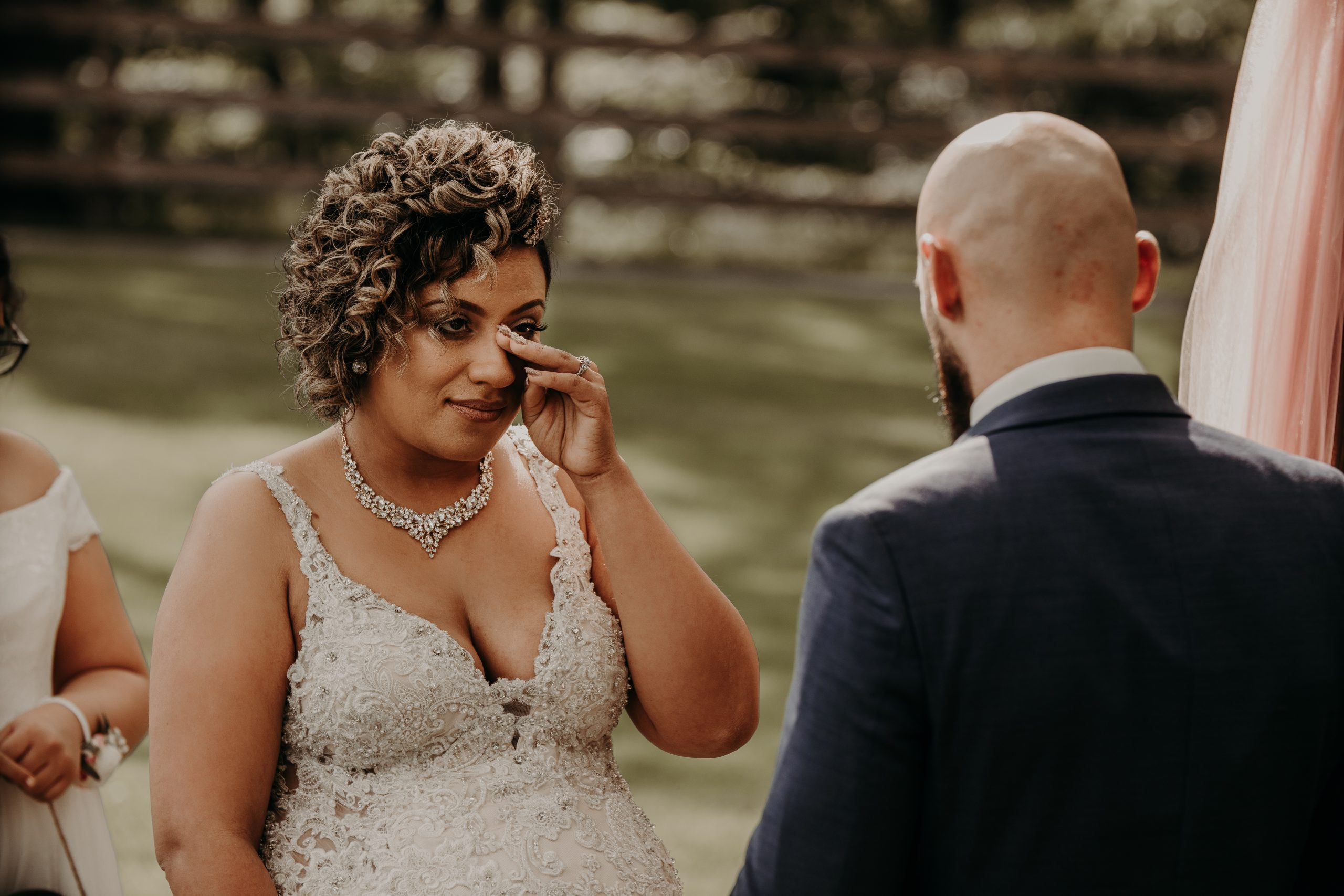 rICHARD READS HIS VOWS TO HIS NEW WIFE. Christine and Richard wed on the Chestnut Hill Villa grounds on May of 2019. This organic ethereal styled wedding was captured by Garnet Dahlia Photography and featured on Dream Weddings.