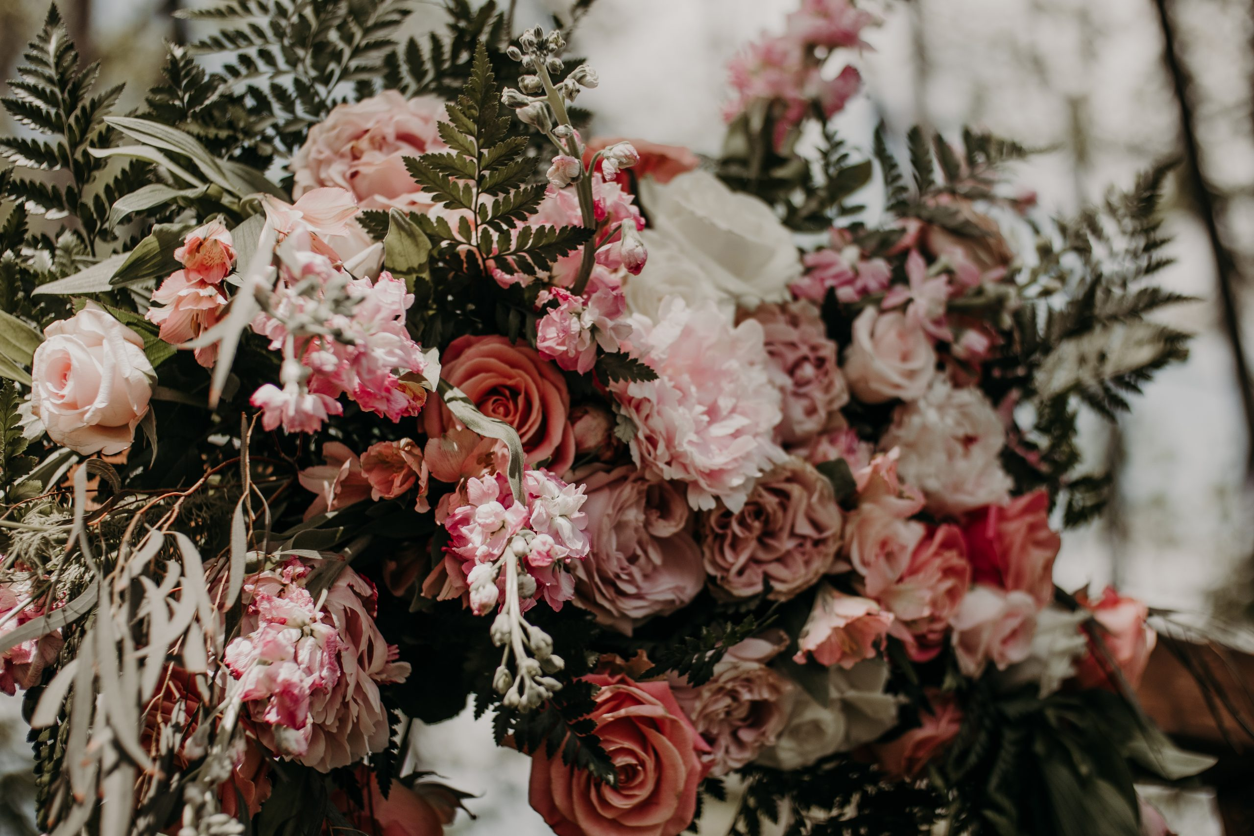 Greenery, blush pink and white flowers were a reoccurring theme. Christine and Richard wed on the Chestnut Hill Villa grounds on May of 2019. This organic ethereal styled wedding was captured by Garnet Dahlia Photography and featured on Dream Weddings.