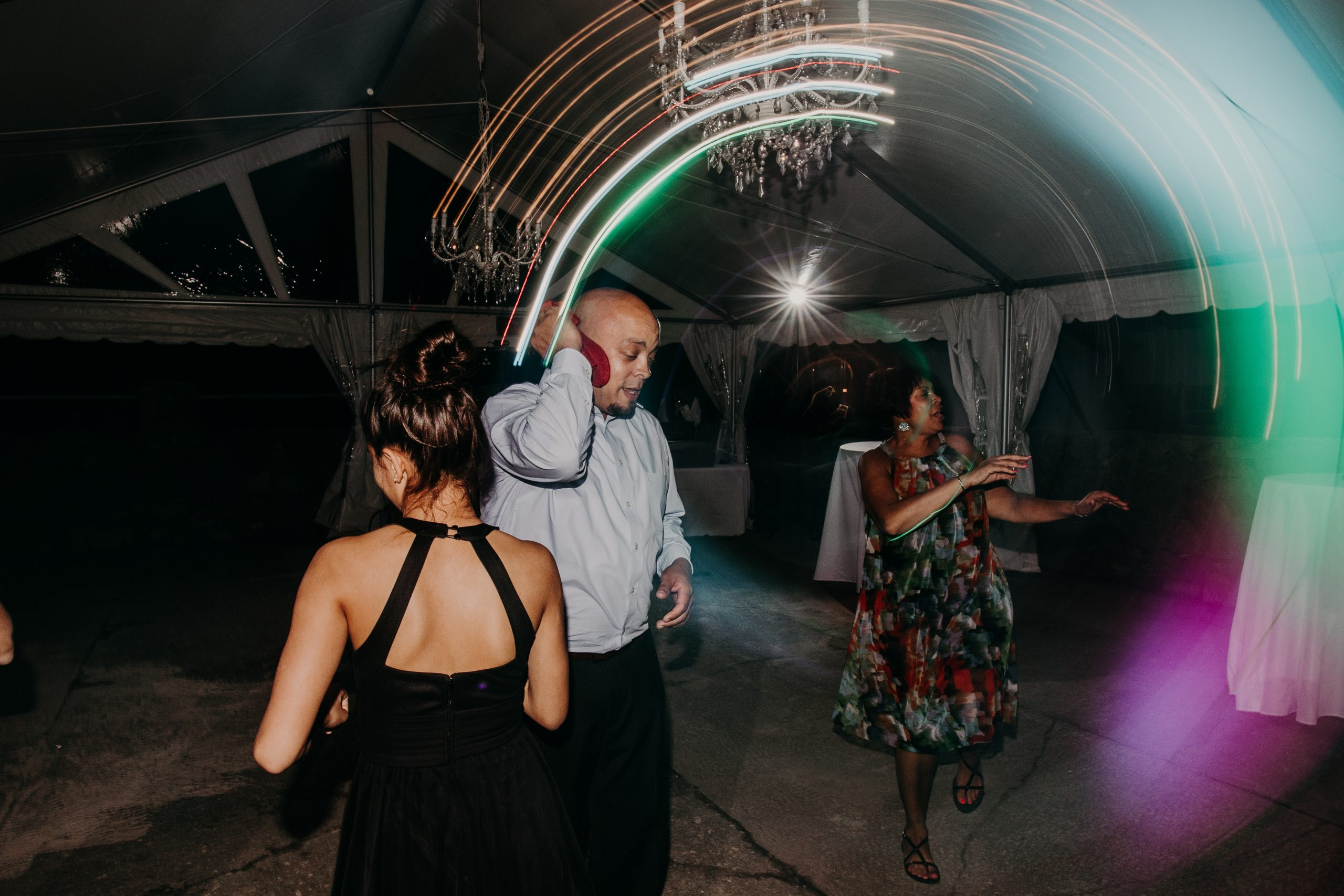 The party starts to wind down. Christine and Richard wed on the Chestnut Hill Villa grounds on May of 2019. This organic ethereal styled wedding was captured by Garnet Dahlia Photography and featured on Dream Weddings.