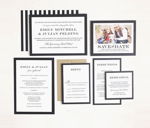 Basic Invites offers a plethora of styles based on your special day. Featured on Dream Weddings.
