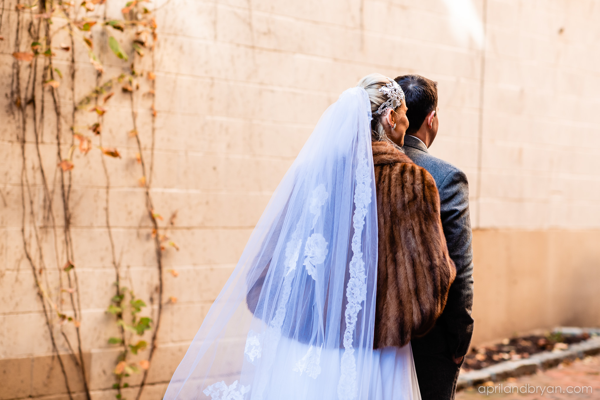 The first look is always the most nerve racking. Nicholas and Rebecca Fasnacht tie the not at Tellus360 on November 1, 2019. Captured by April & Bryan Photography and featured on Dream Weddings.