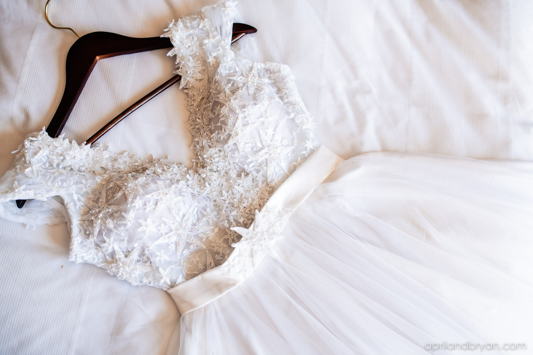 The wedding dress Rebecca is to where down the isle to meet hr soon to be husband. Nicholas and Rebecca Fasnacht tie the not at Tellus360 on November 1, 2019. Captured by April & Bryan Photography and featured on Dream Weddings.
